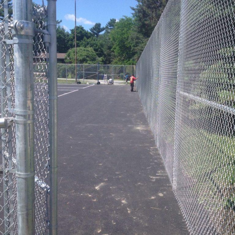 Terrain de tennis - mailles